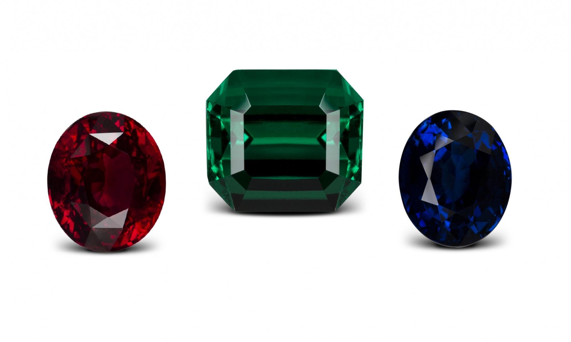 Fine colored stones