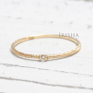 14K Gold 0.02 Ct. Solitaire Genuine Diamond Handmade Ring Fine Jewelry