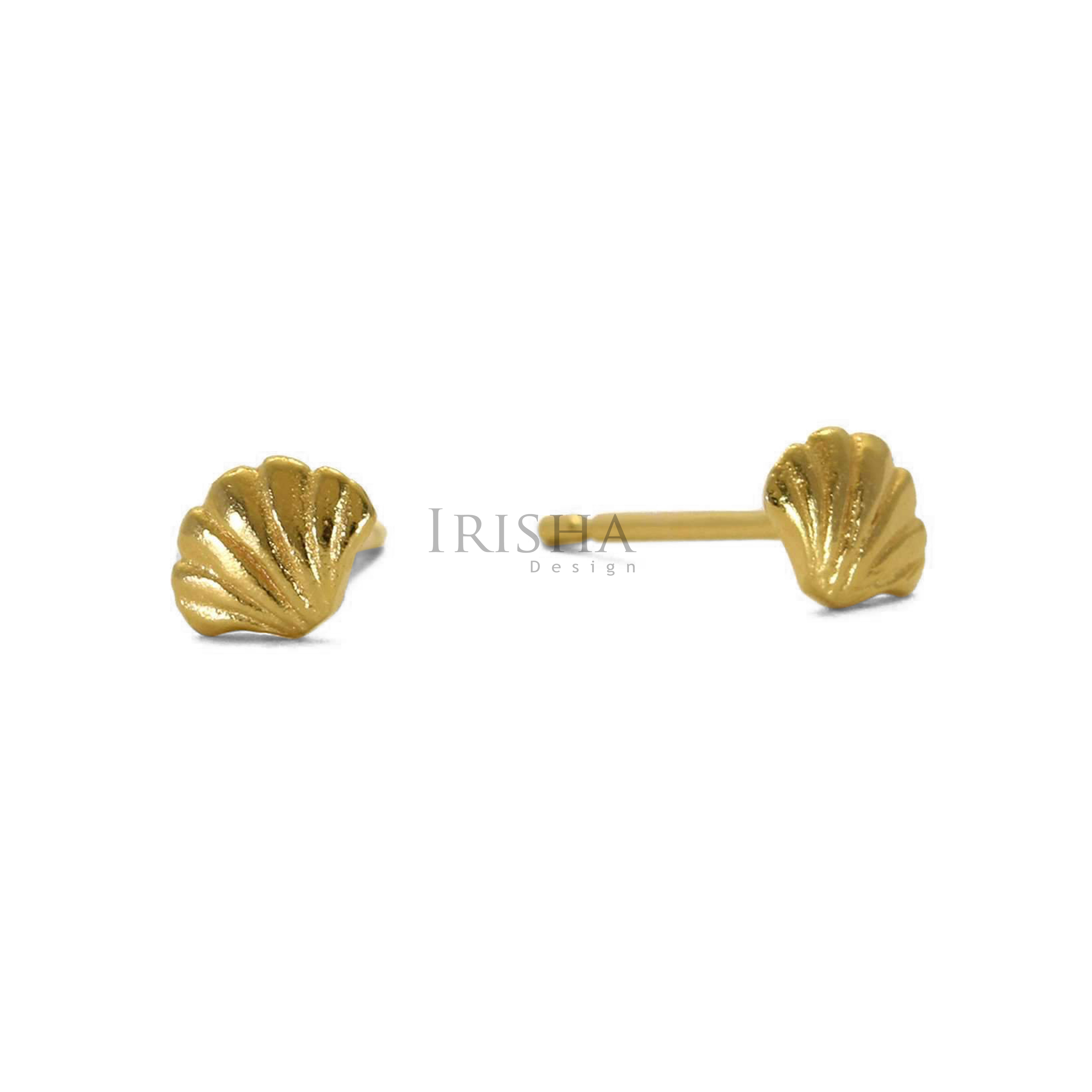 14K Solid Gold Tiny Wing Studs Earrings Handmade Fine Jewelry