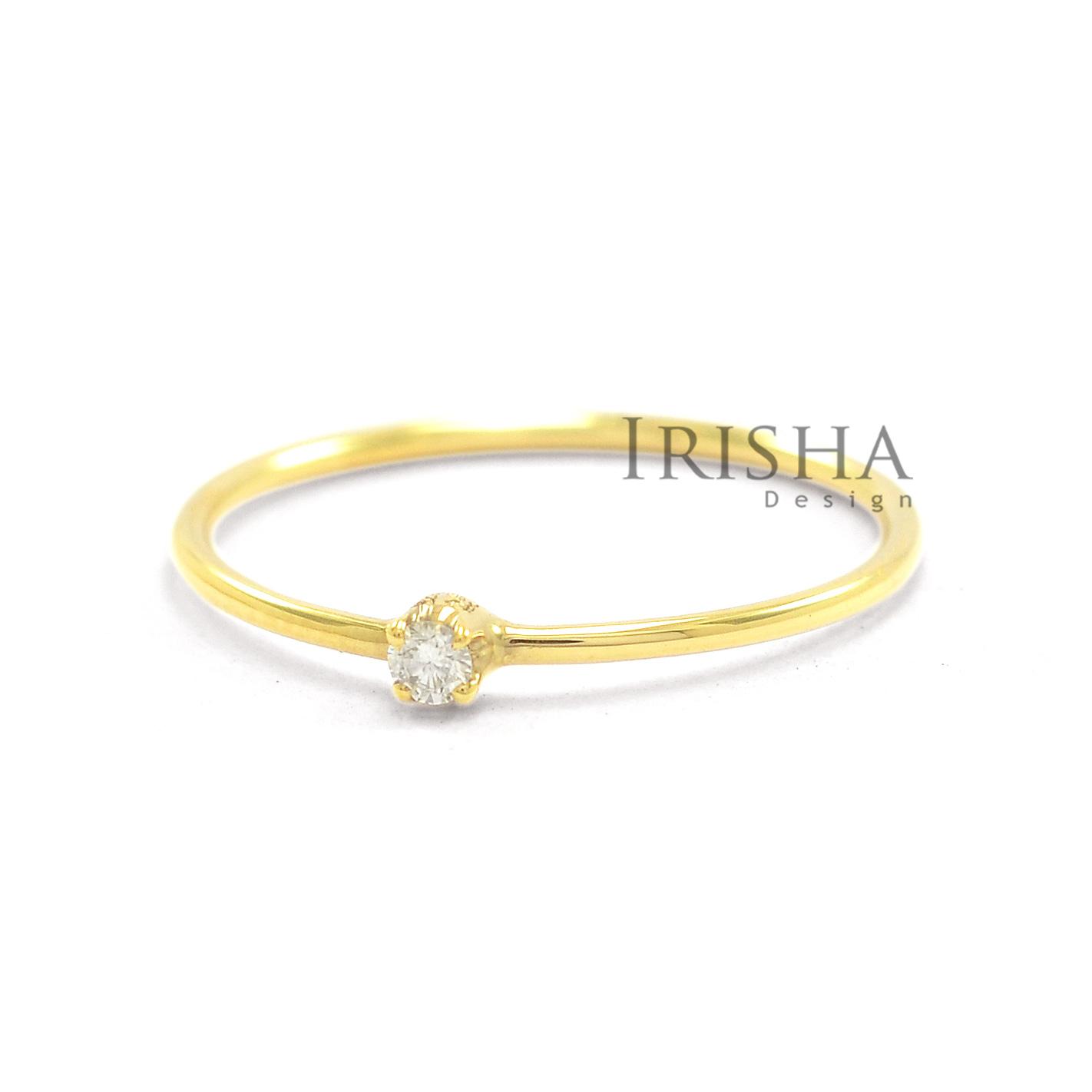 14K Gold 0.06 Ct. Solitaire Genuine Round Diamond Engagement Ring Fine Jewelry