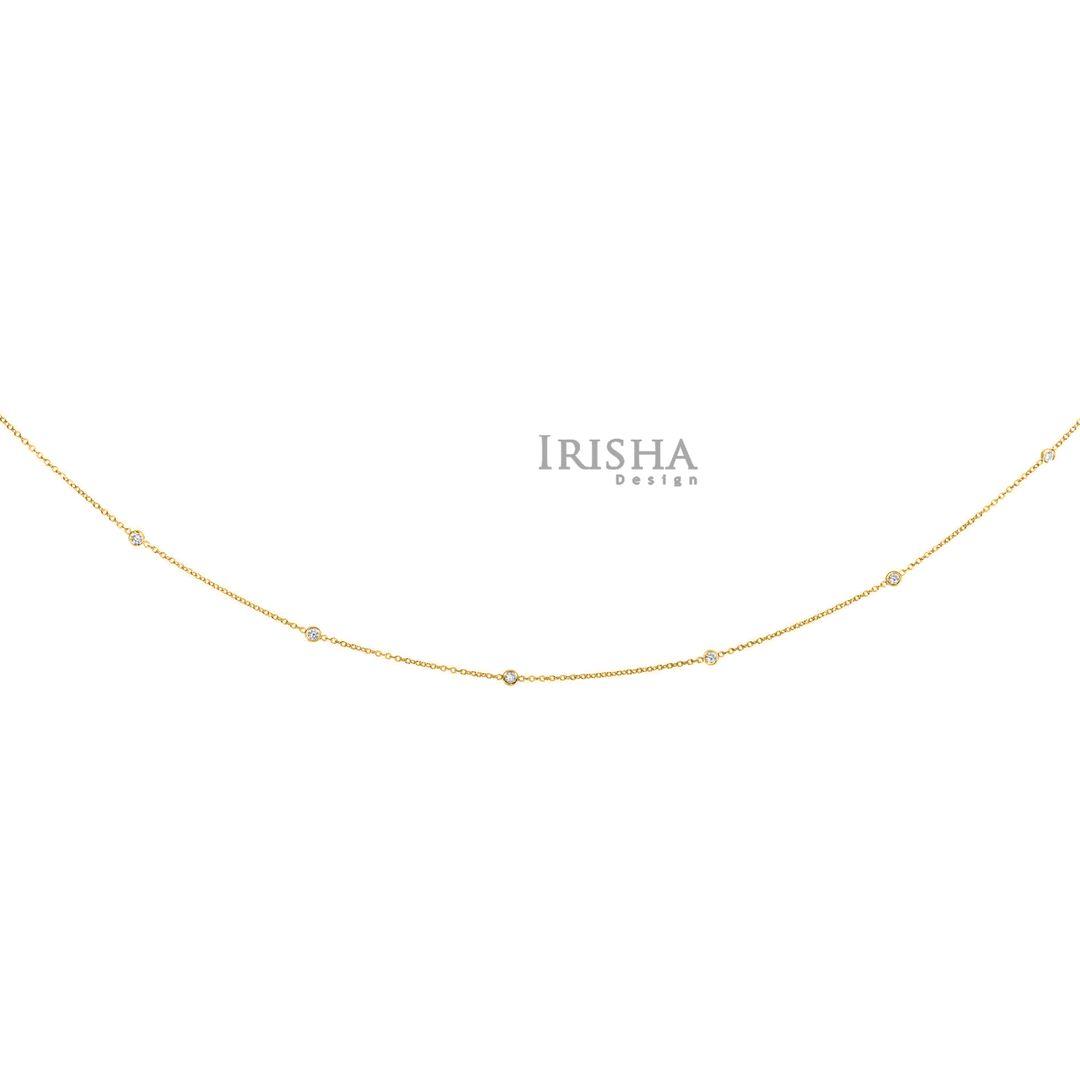 14K Gold 0.25 Ct. Genuine Diamonds 18 inch Yard Necklace Wedding Fine Jewelry