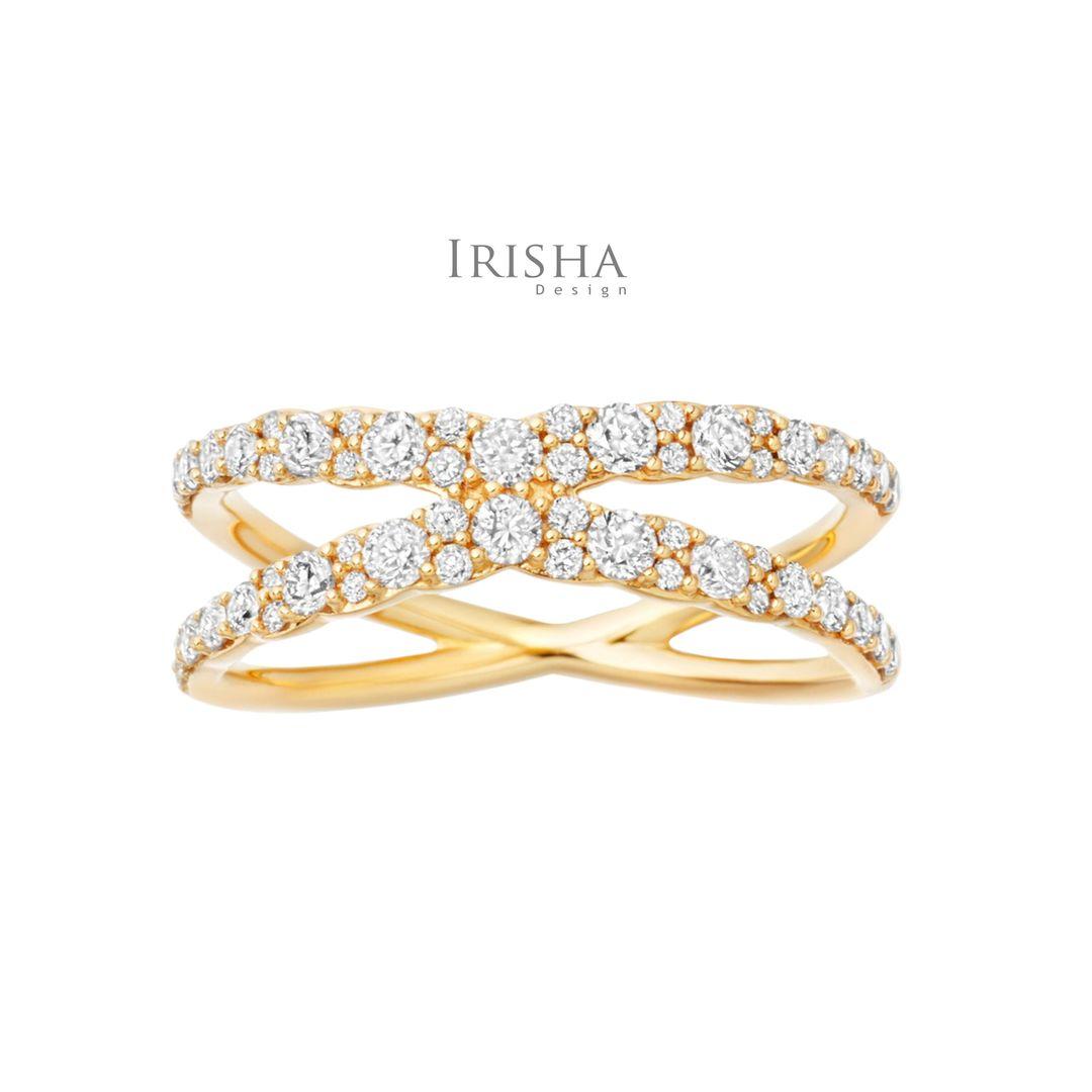 VS Clarity Genuine Diamond Eternity Stacking Wedding 14K Gold Band Ring Jewelry
