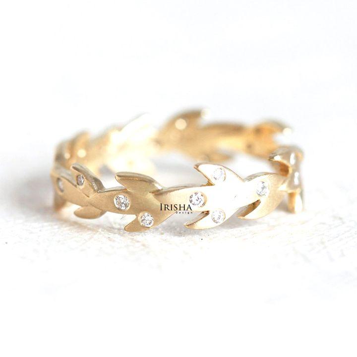 14K Gold 0.30 Ct. Genuine Diamond Tree Branch Leaf Design Ring Fine Jewelry