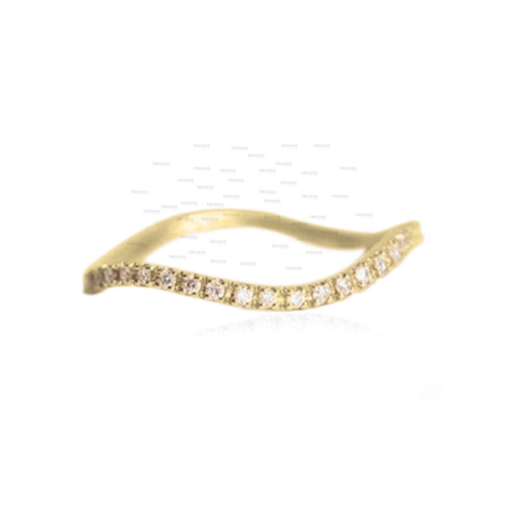14K Gold 0.25 Ct. Genuine Diamond Eternity Wedding Stacking Ring Fine Jewelry