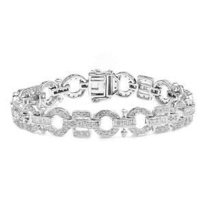 14K Gold 3.25 Ct. Genuine Diamond  Everyday Bracelet Fine Bridal Jewelry