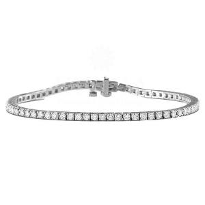14K Gold 4.00 Ct. Genuine VS Clarity F Color Diamond Tennis Bridal Bracelet