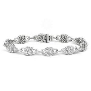 14K Gold 6.00 Ct. Genuine VS Clarity Diamond Wedding Bracelet Fine Jewelry