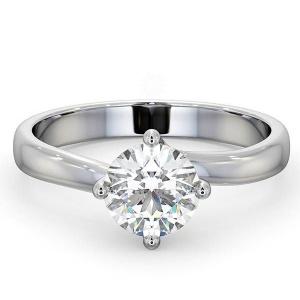 14K White Gold 1.00 Ct. Genuine Diamond Wedding Engagement Ring Bridal Jewelry