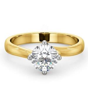 14K Yellow Gold 1.00 Ct. Genuine Diamond Wedding Engagement Ring Bridal Jewelry
