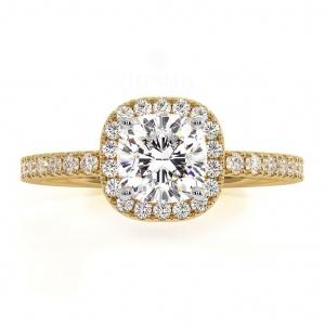 14K White Gold 1.50 Ct. Genuine VS Clarity Diamond Halo Engagement Wedding Ring