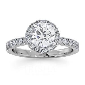 14K Gold 1.50 Ct. Genuine Diamond Wedding Engagement Band Ring Bridal Jewelry