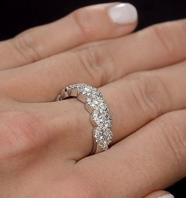14K Gold 1.00 Ct. Genuine VS Clarity F-G Color Diamond Weave Ring Fine Jewelry