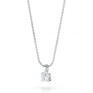 Brilliant Cut Diamond Pendant 0.10ct In 18K White Gold