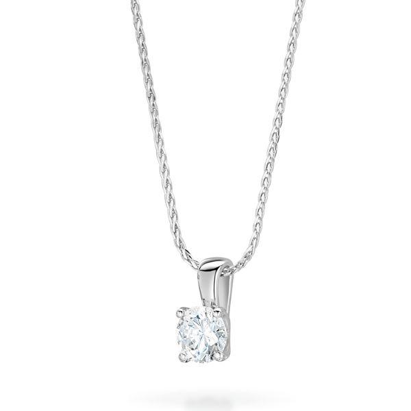 Brilliant Cut Diamond Pendant 0.20ct In 18K White Gold