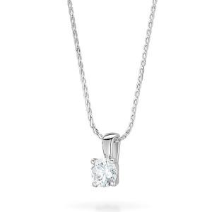 Brilliant Cut Diamond Pendant 0.33ct In 18K White Gold