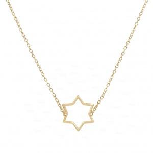 14K Solid Gold Unique Crescent Moon Pendant Necklace Celestial Fine Jewelry