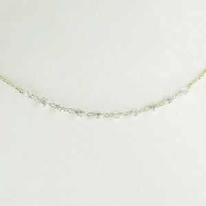 14K Yellow Gold Genuine Drilled Diamond Necklace Fine Jewelry Anniversary Gift