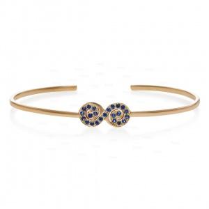 14K Gold 0.25 Ct. Genuine Diamond Infinity Cuff  Bangle Bracelet Fine Jewelry
