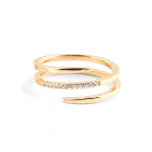 14K Gold 0.10 Ct. Genuine Diamond Wrap Ring Wedding Fine Jewelry Size-3 to 8 US