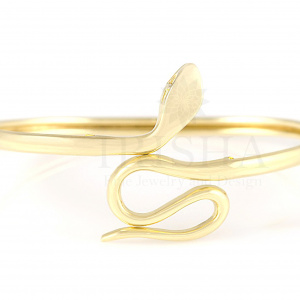 14K Solid Gold Handmade Snake Bangle Bracelet Fine Jewelry