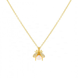 Pearl Bug Necklace
