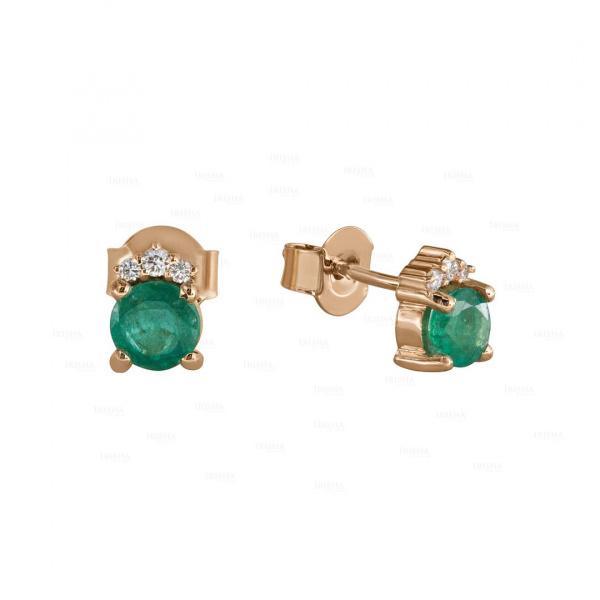 Verdant Emerald Diamond Studs