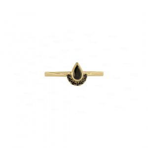 0.32 Ct. Genuine Black Diamond Ring Fine Jewelry 14K Gold Halloween Gift