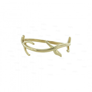14K Solid Gold Tree Branch Nature Love Ring Fine Jewelry Size -3 to 8 US