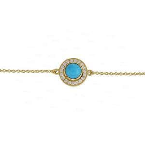 Tourmaline Disc Bracelet