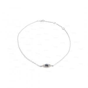Blue Sapphire Evil Eye Bracelet