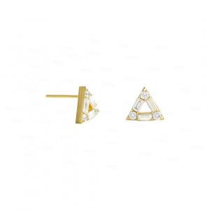 Diamond Triangle Studs