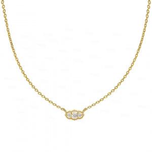 Diamond Trio Art Deco Necklace