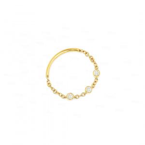 Bezel Diamond Chain Ring