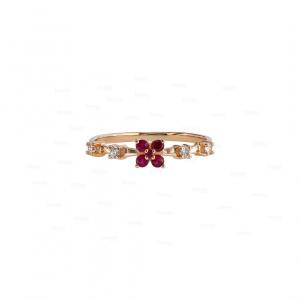 Diamond Ruby Engagement Ring