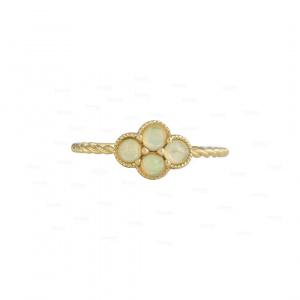 Four Leaf Clover Opal Ring
