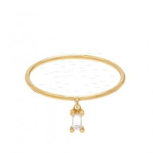 Diamond Baguette Dangle Ring