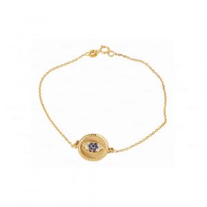 Evil Eye Disc Bracelet