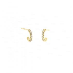 Half Hoop Cuff Earrings