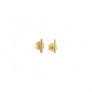 Mini Golden Bar Studs