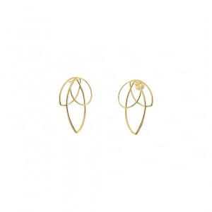 Maple Earrings   14k Solid Gold