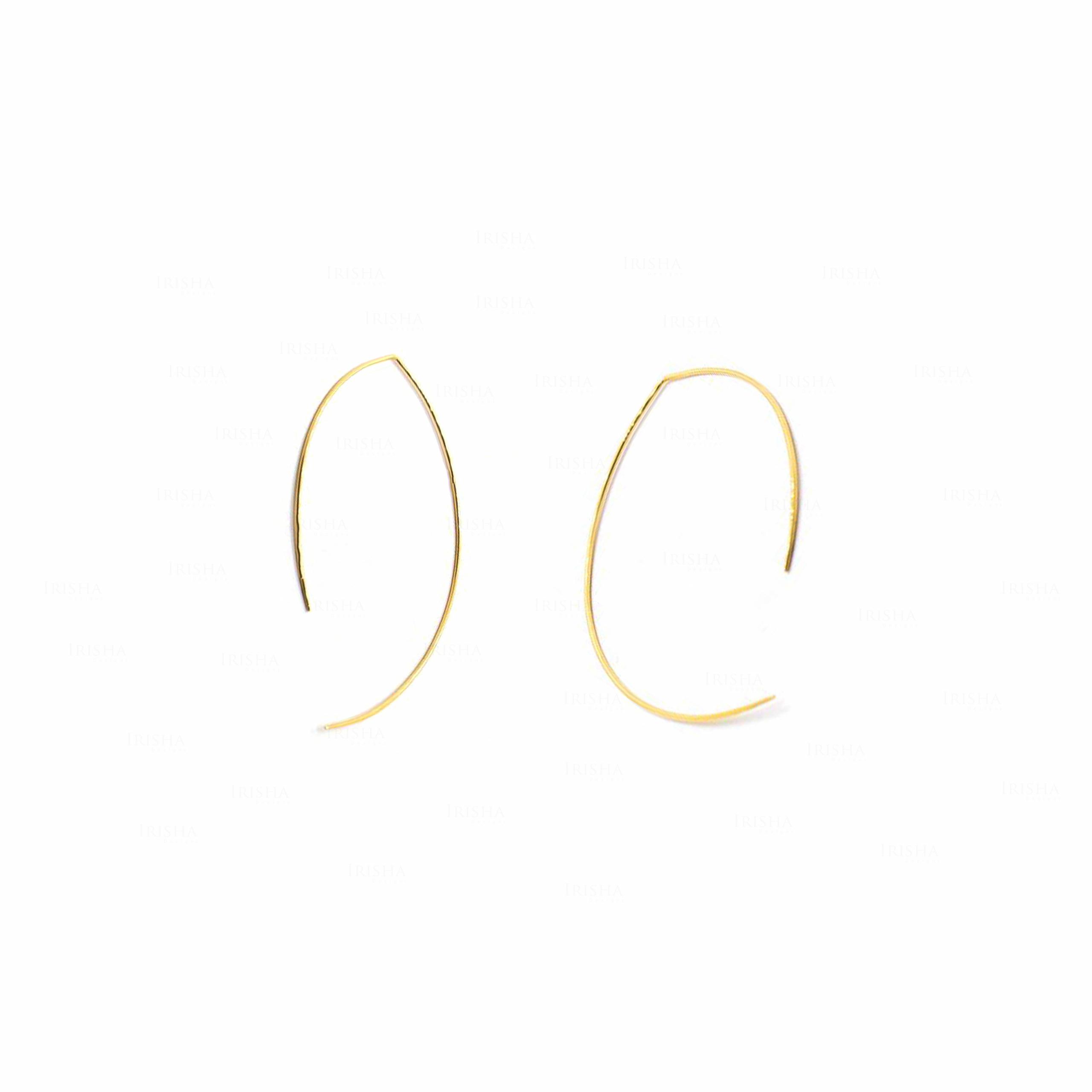 Oval Hoop Earrings | Solid Gold 14k