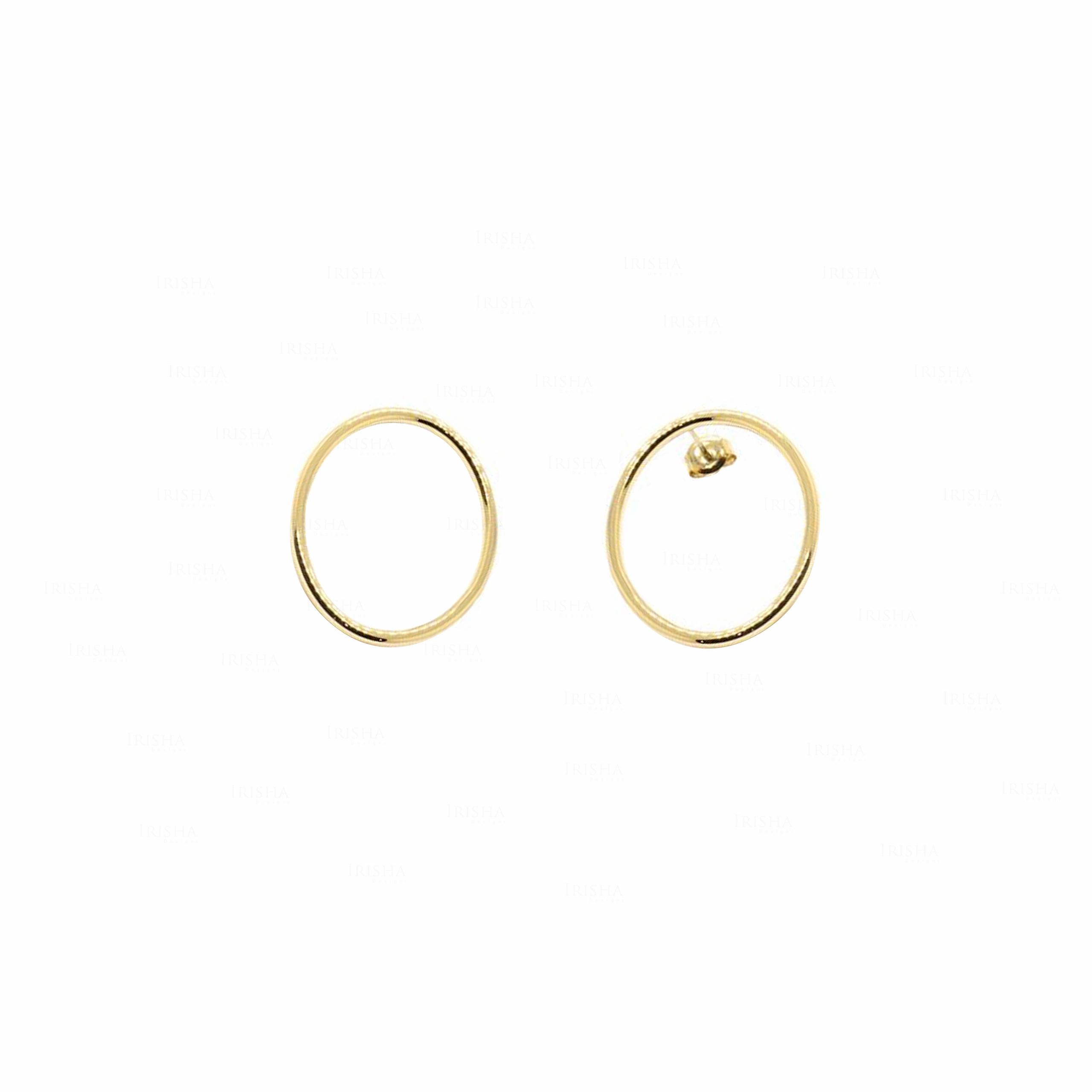 Eclipse Hoop | 14k Gold Earrings