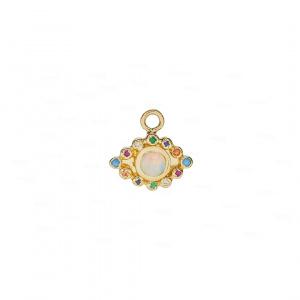 Multi-Color Evil Eye Ear Charm 14k Gold,Gemstone,Opal
