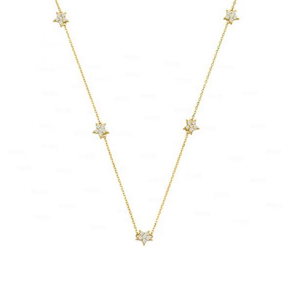 Multi Star Station Necklace