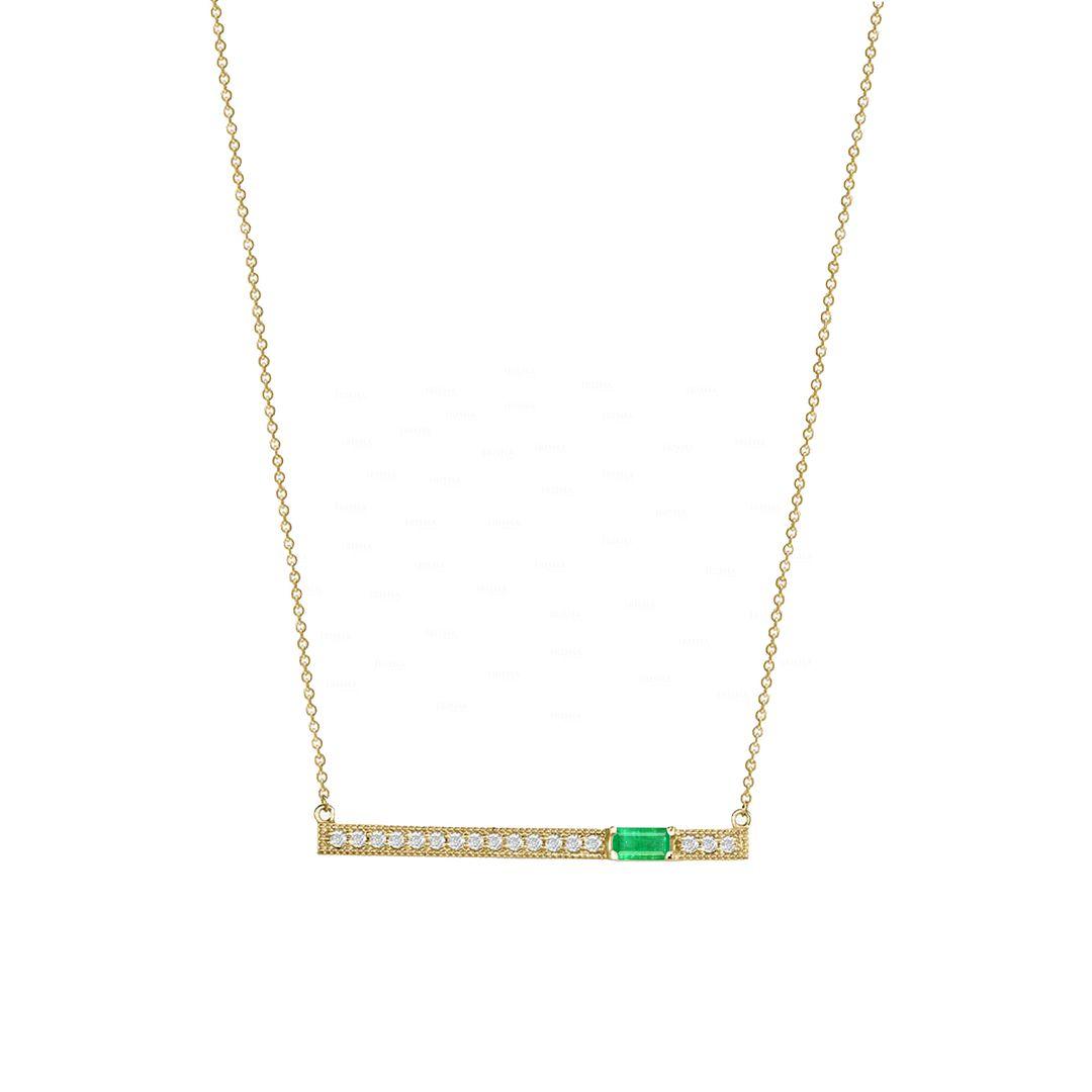 Diamond Bar Necklace?Custom Gemstone