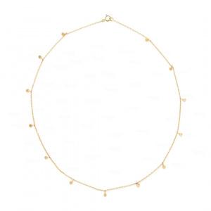 Disc Charm Choker 14k Gold Necklace