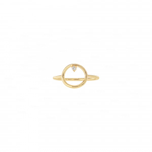 Open Circle Engagement Ring