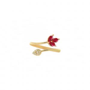 Ruby Pear Ring