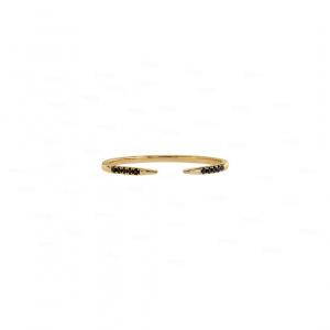 Black Diamond Claw Ring