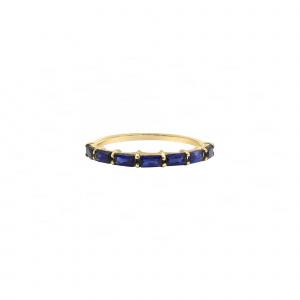 Blue Sapphire Baguette Ring